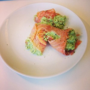 zalm avocado wraps
